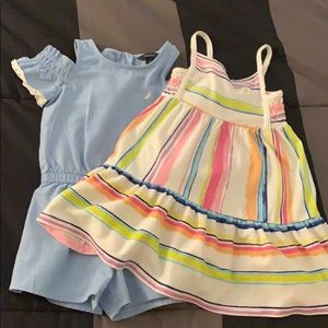 Nautica Toddler Dress and Romper Size 2T-3T